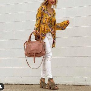 Pink medium Chloe Marcie Leather Satchel bag